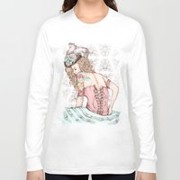marie antoinette Long Sleeve T-shirts featuring Marie Antoinette by Frances Louw