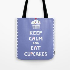 Keep Calm and Eat Cupcakes - frilly Tote Bag