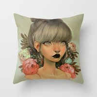 mini Throw Pillows featuring ambrosial by loish
