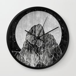 The Lone peaks of the moon Wall Clock