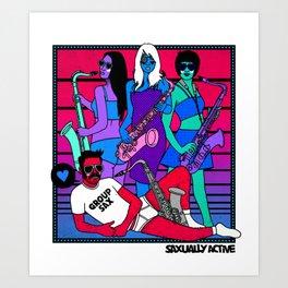 Group Sax Art Print