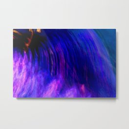 Abstract Purple Mist With A Dash Of Orange Metal Print