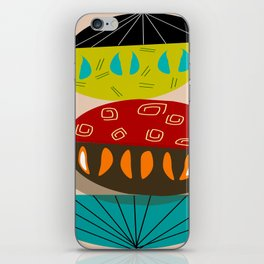 Mid-Century Modern Abstract Half Moons iPhone Skin