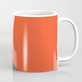 Black and White Marble with Pantone Flame Color Coffee Mug