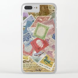World Stamps Clear iPhone Case