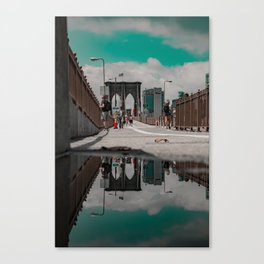 Brooklyn in a Puddle Canvas Print