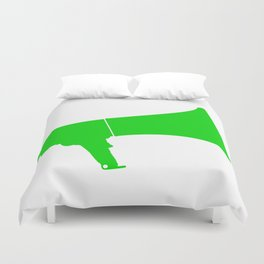 Green Isolated Megaphone Duvet Cover