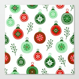 Christmas Decorations Pattern Canvas Print