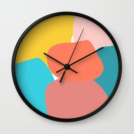 Abstract pastel collors Wall Clock