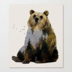 Bear Relaxing Canvas Print