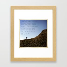 color image of Ireland with quote Framed Art Print