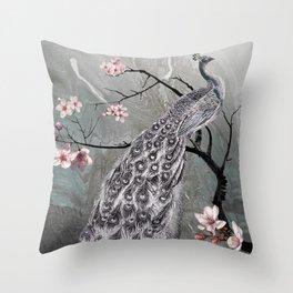 Spade's Peacock Throw Pillow