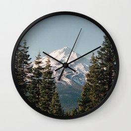 Mt Shasta Morning Wall Clock