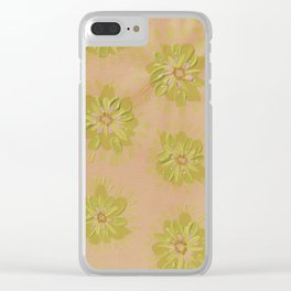Sand Petal Rose Clear iPhone Case