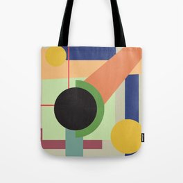 Abstract geometric composition study- Space Tote Bag