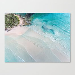 Shallows - Wall Art, Wall Decor, Home Decor, Beach Print, Ocean Print, Aerial Photo Canvas Print
