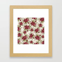 Poinsettia Pattern Framed Art Print