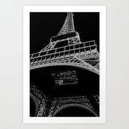 Digital Eiffel Art Print