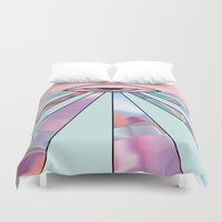holographic Duvet Covers featuring Trans Colour Eye by Belinda O'Connell