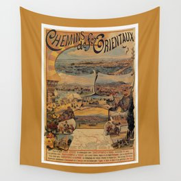 Oriental railways to Constantinople Wall Tapestry
