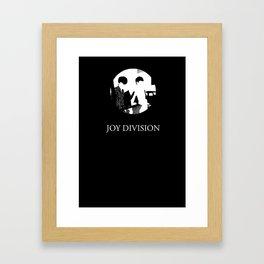 JOY DIVISION - Music | Goth | Indie | Wave | Retro | Vintage | Vector | Black and White | Vinyl  Framed Art Print