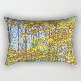 Sunny Fall Forest Rectangular Pillow