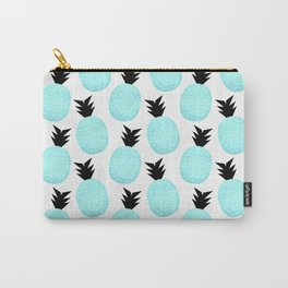 Turquoise Pineapples Carry-All Pouch