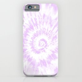 Lighter Purple Tie Dye iPhone Case