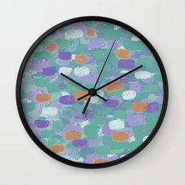 Confetti Cake - teal tones Wall Clock