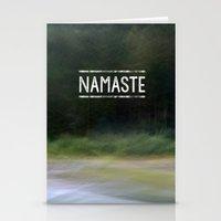 namaste Stationery Cards featuring Namaste by Angela Fanton