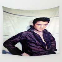 elvis presley Wall Tapestries featuring Elvis Presley by Neon Monsters