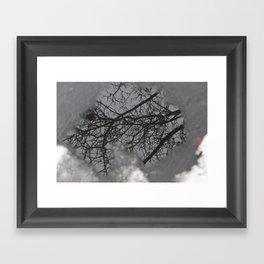 Winter's Pond Framed Art Print