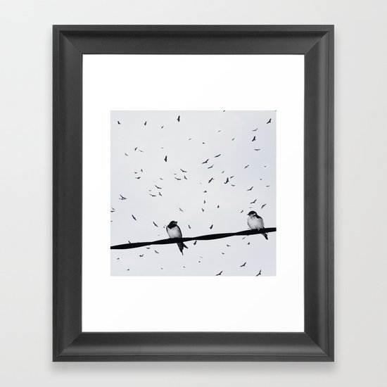 loving couple Framed Art Print