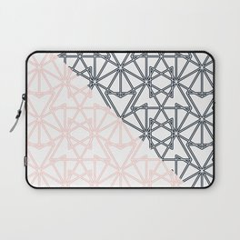 Black and Pink Crop Symmetry Laptop Sleeve