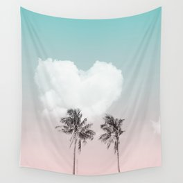 Love palm tree Wall Tapestry