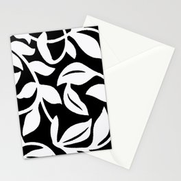 PALM LEAF VINE SWIRL BLACK AND WHITE 2020 Stationery Cards