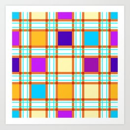 Colorf squares Art Print