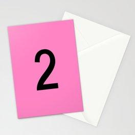 NUMBER 2 (BLACK-PINK) Stationery Cards