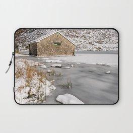 Frozen Lake Snowdonia Laptop Sleeve