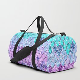 Mermaid Scales with Unicorn Girls Glitter #9 #shiny #decor #art #society6 Duffle Bag