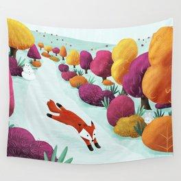 Winter Fox Wall Tapestry