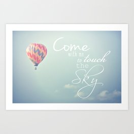 Come With Me Art Print