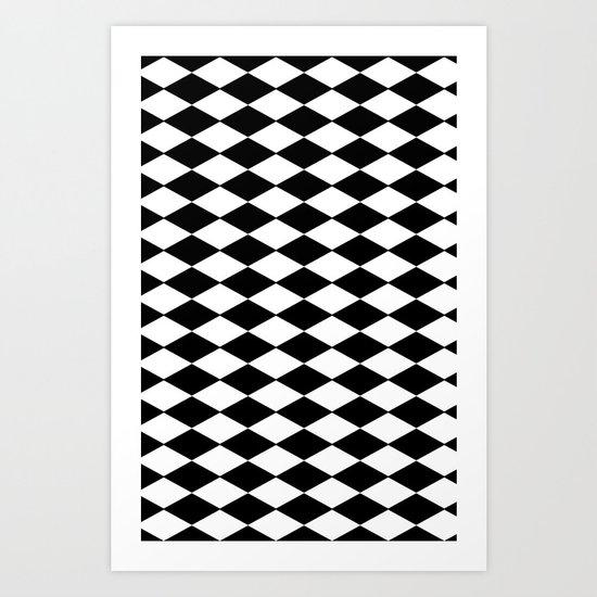 Black & white chequered case. Art Print