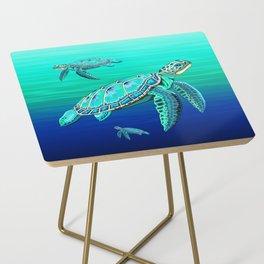 Sea Turtle Turquoise Oceanlife Side Table