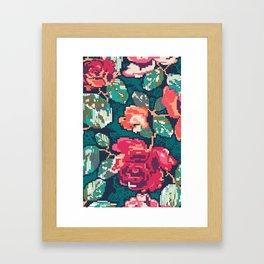 Cross roses Framed Art Print