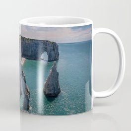 Etretat coast Normandy cliffs English Channel arch France Coffee Mug