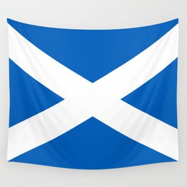 Flag of Scotland - High quality image Wall Tapestry