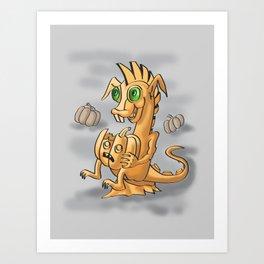 Pumpkin dagon by Dreaingsenga Art Print