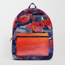Sunset on Santorini Backpack