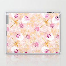 Flowers and dragonfly on blush Laptop & iPad Skin